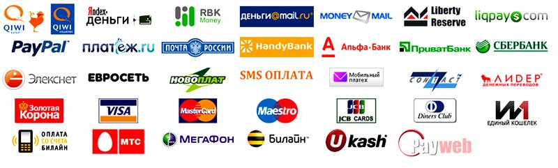 Способы приема платежей